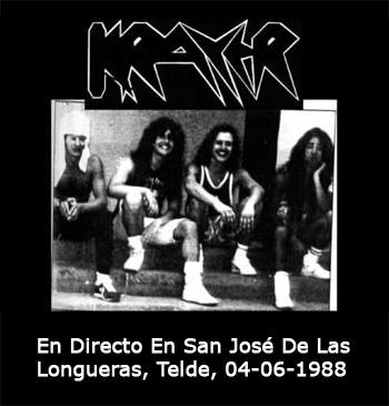 """Krayer """"En Directo En San José De Las Longueras, Telde, 04-06-1988"""""""